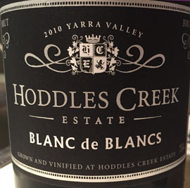 Hoddles Creek Estate Blanc de blancs 2010 Yarra Valley