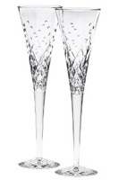 Waterford Happy Celebrations Crystal Flute Glasses